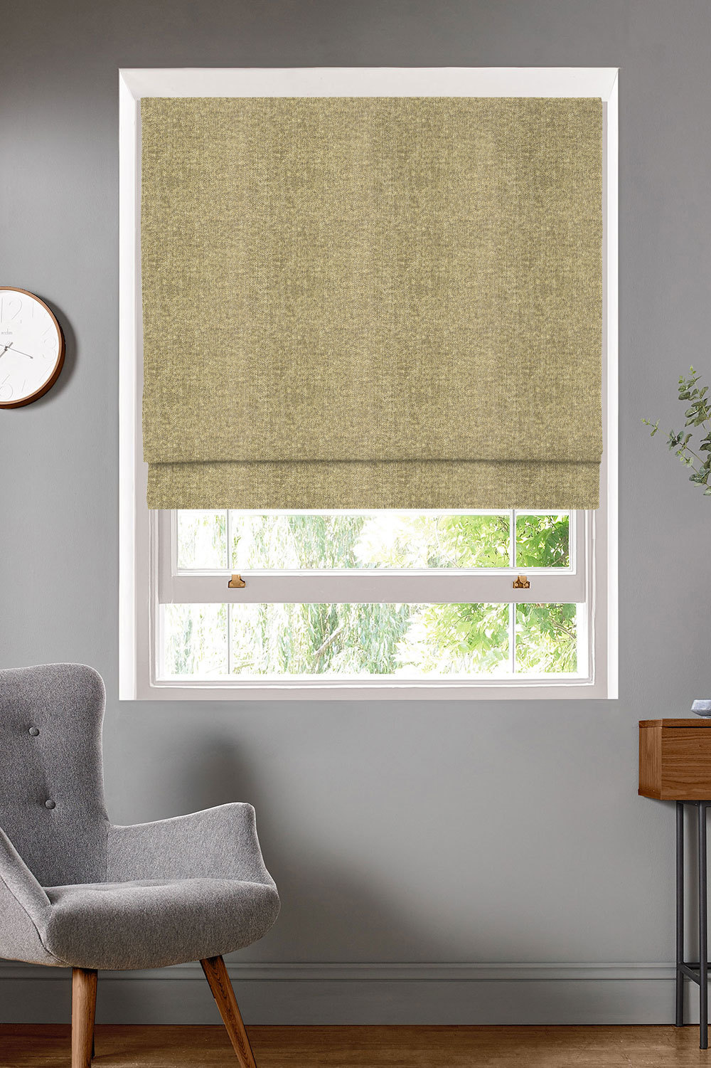 Merino Taupe Roman Blinds