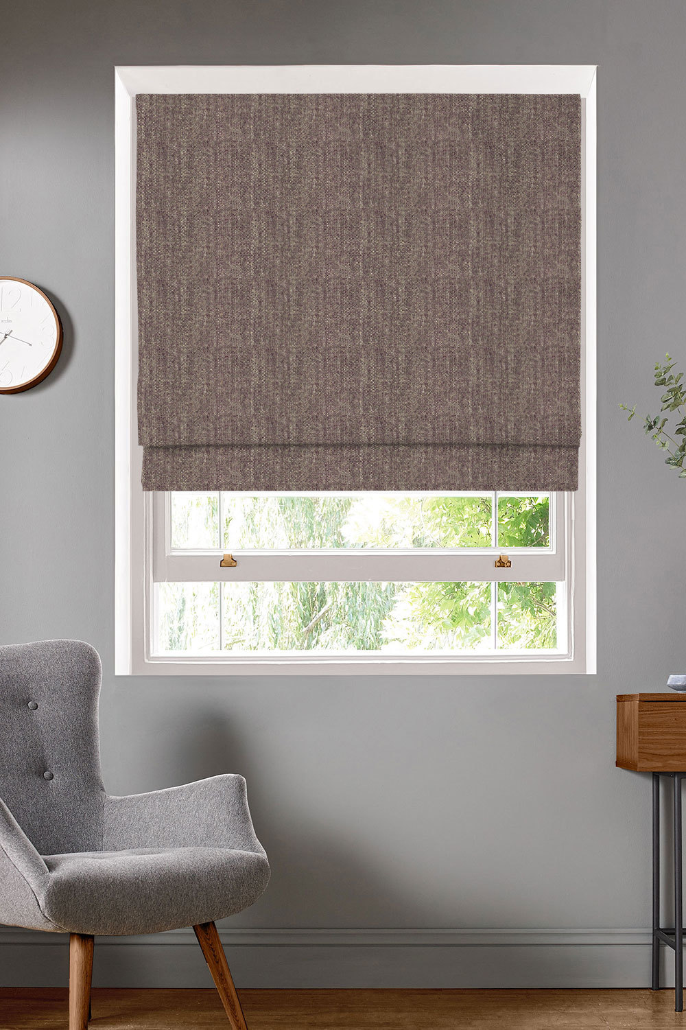 Merino Heather Roman Blinds