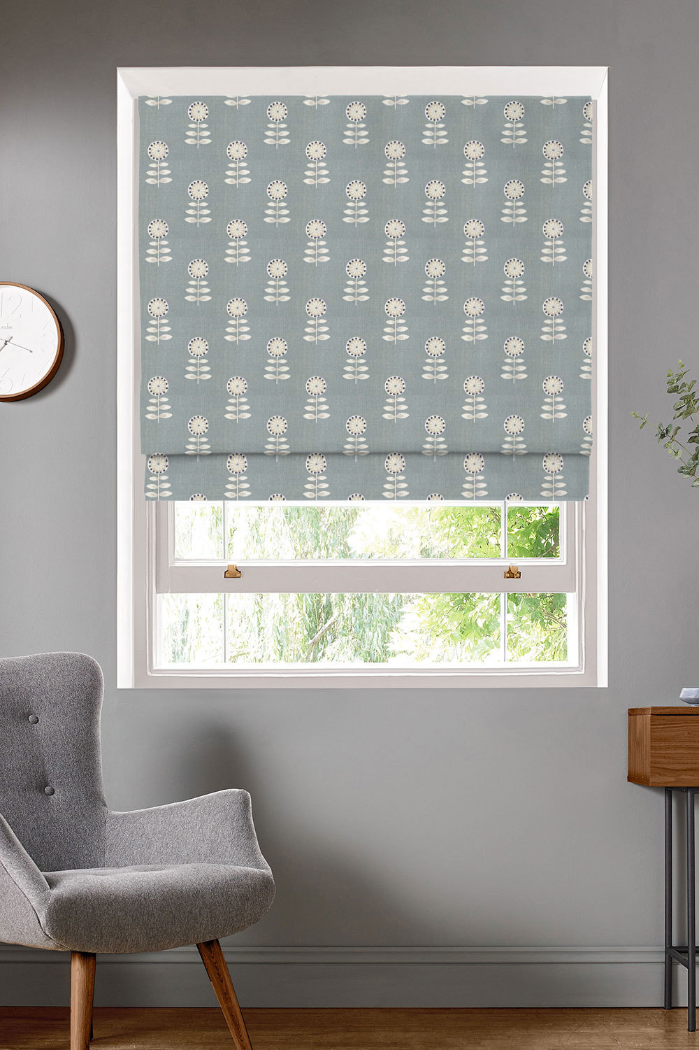 Rushock Duck Egg Roman Blinds