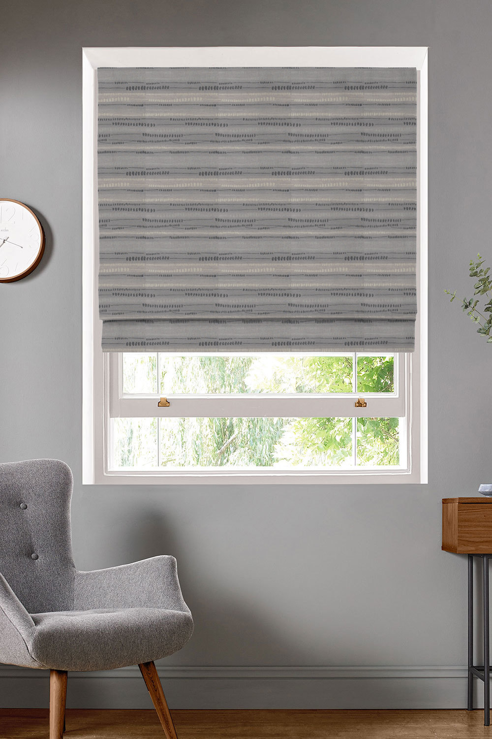 Java Pewter Roman Blinds