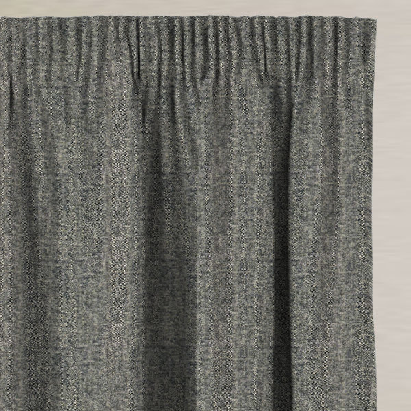 Merino Charcoal Made to Measure Curtains
