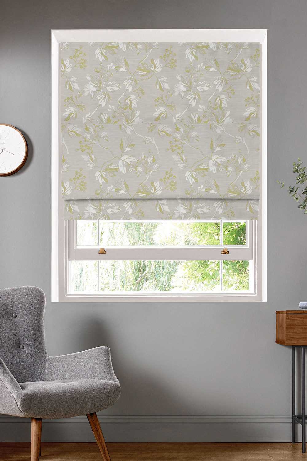 Villette Ochre Roman Blinds