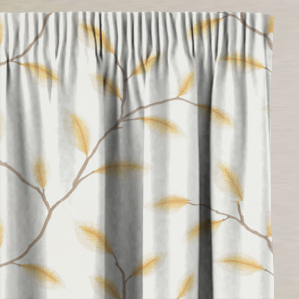 Kyoto Mustard Made to Measure Curtains