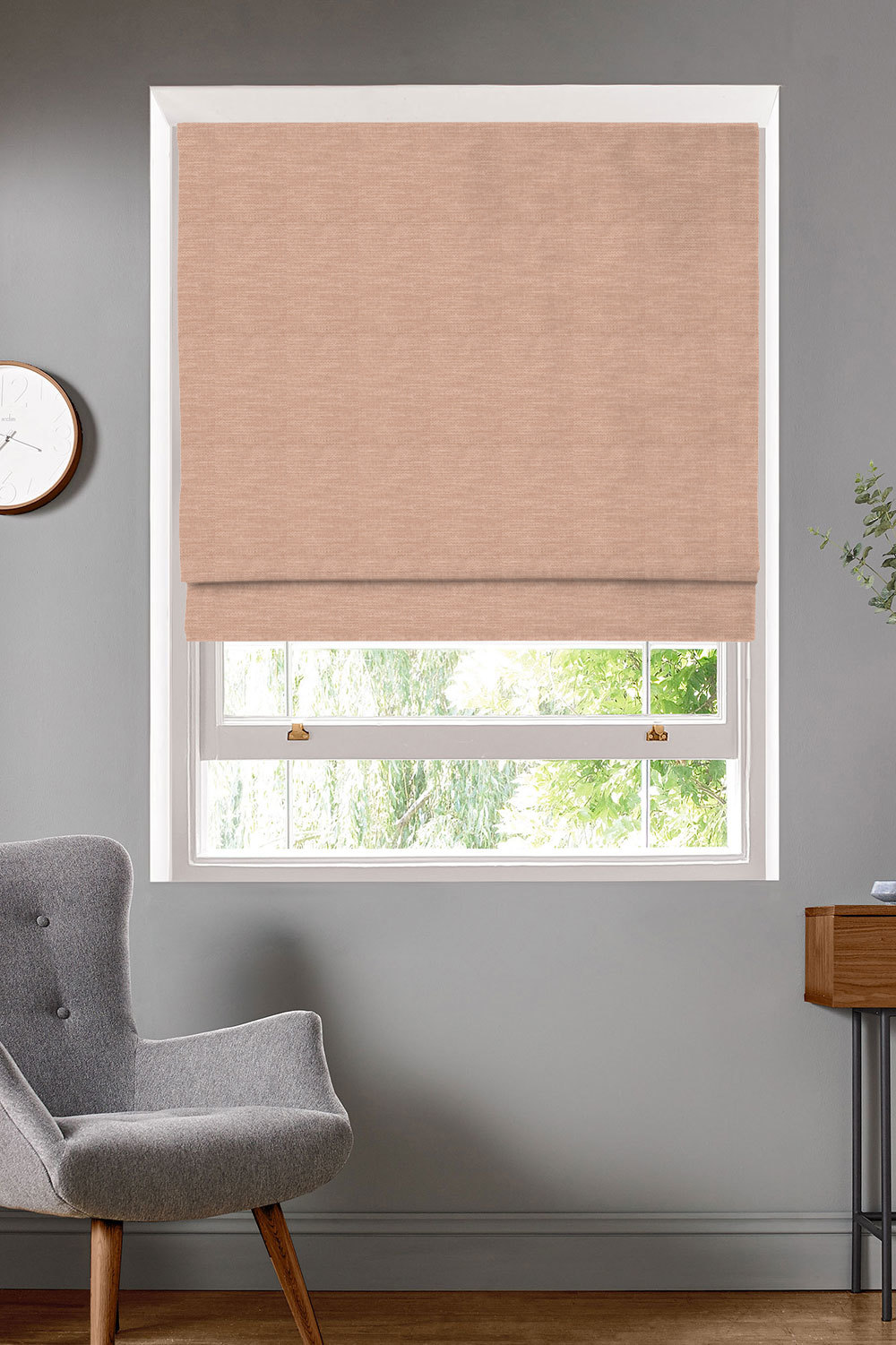 Antilla Blush Roman Blinds