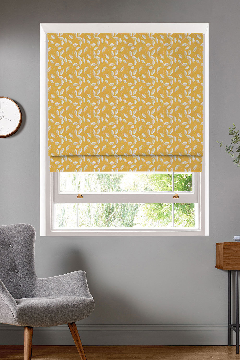 Thurlow Sunflower Roman Blinds