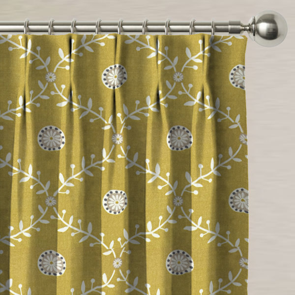 Bluntington Ochre Made to Measure Curtains