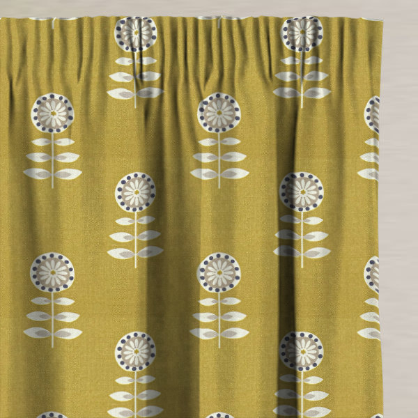 Rushock Ochre Made to Measure Curtains