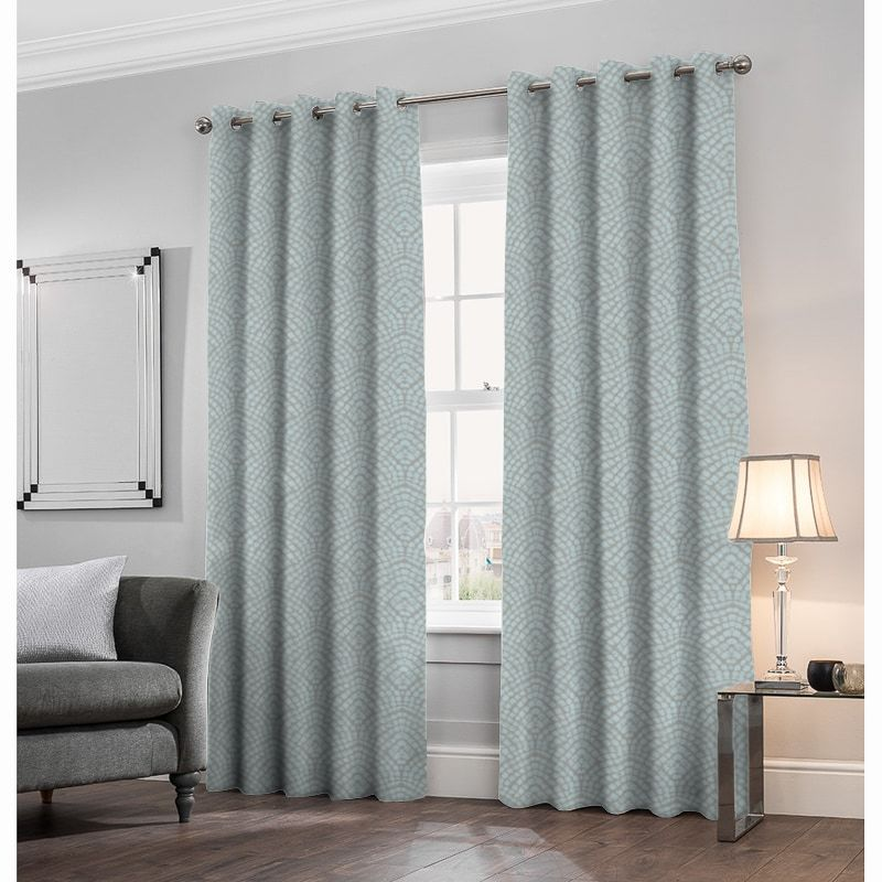 Addison Azure Made to Measure Curtains