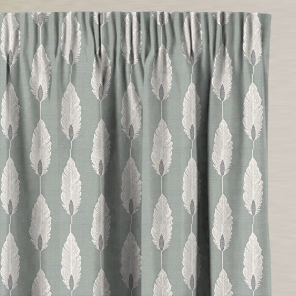 Feather Azure Made to Measure Curtains