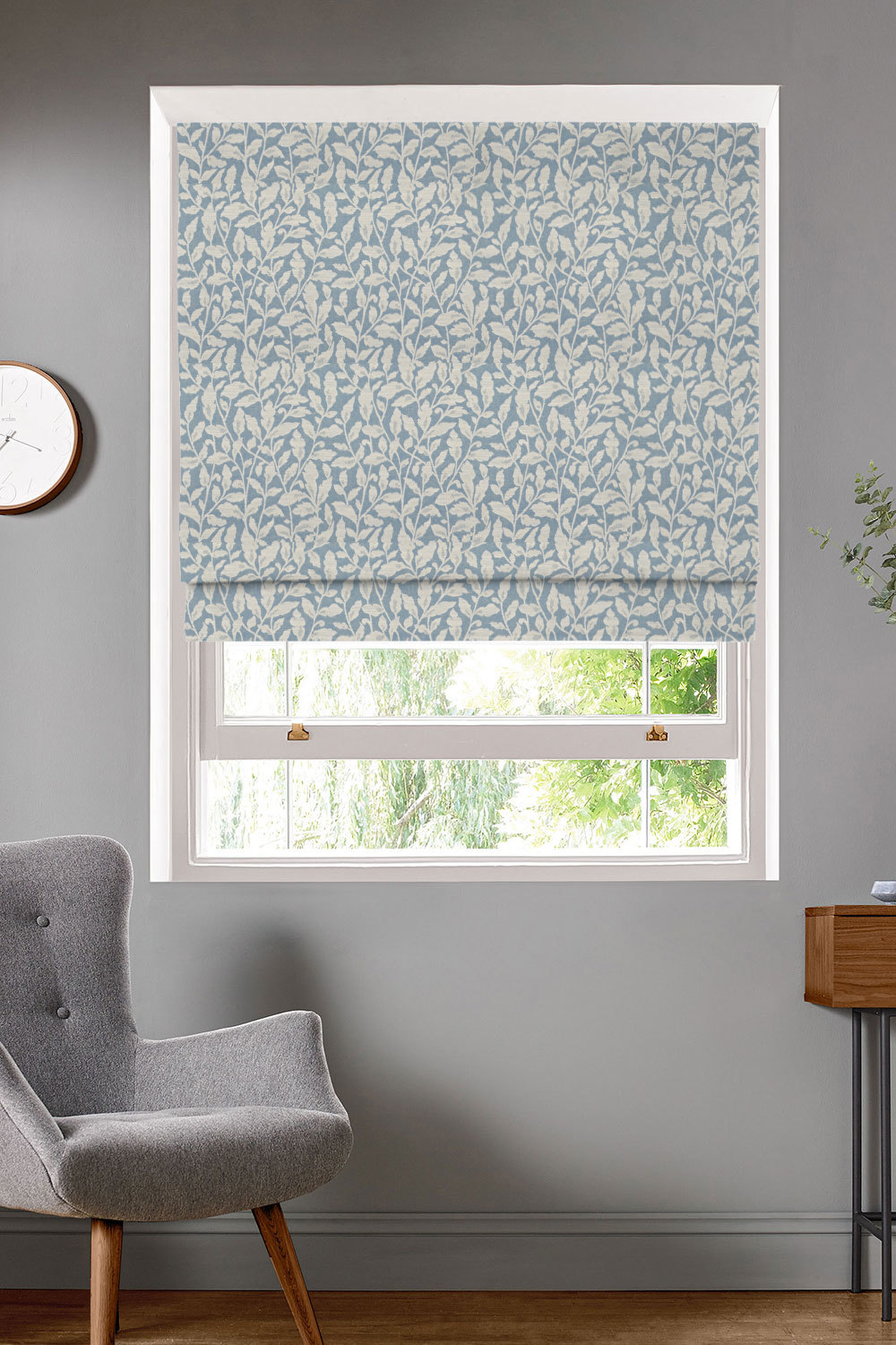 Dana Blue Roman Blinds