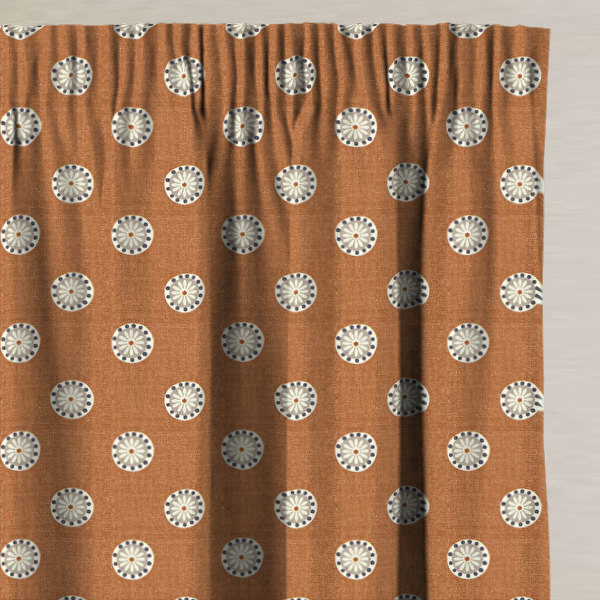 Shenstone Tangerine Made to Measure Curtains