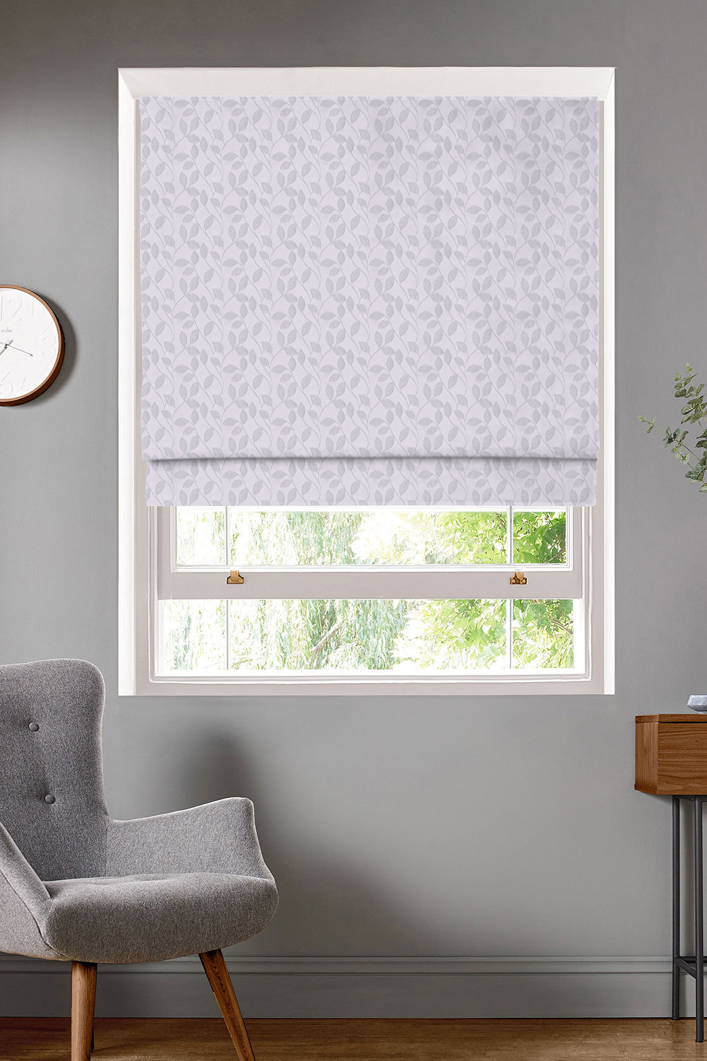 Thurlow Platinum Roman Blinds
