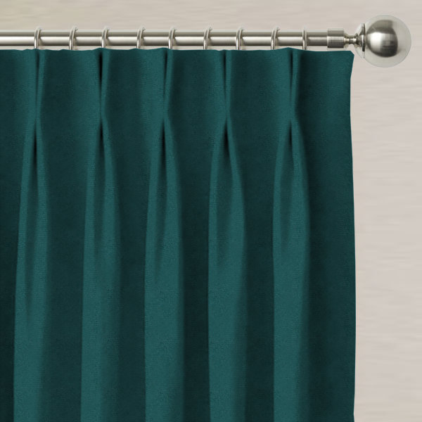 Alaska Velvet Teal Made to Measure Curtains