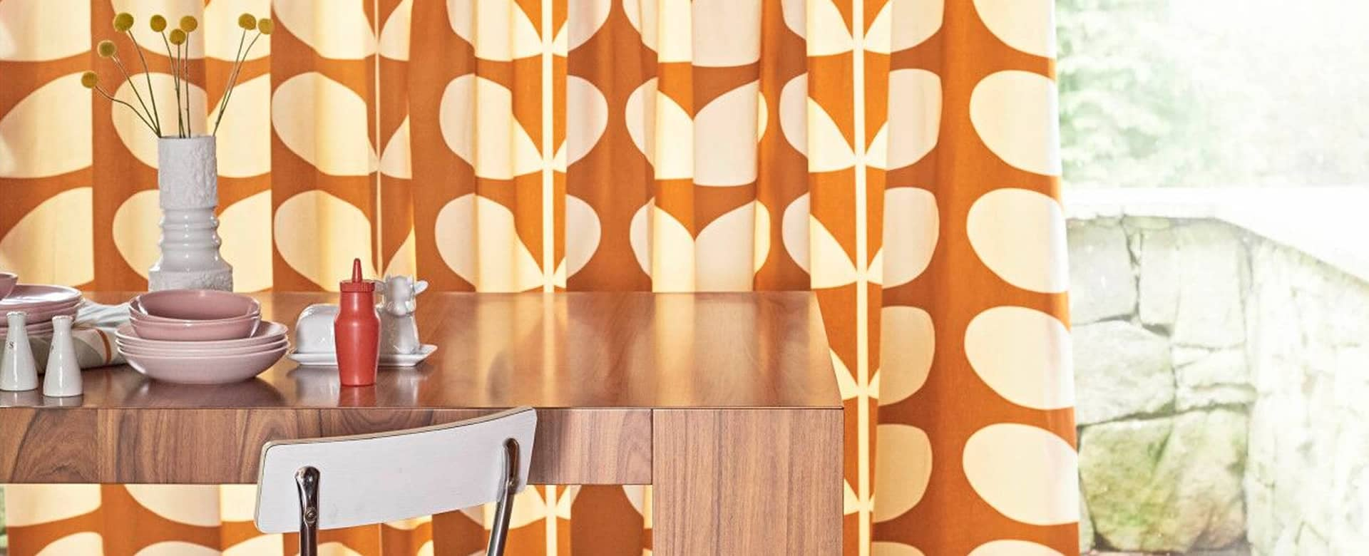 Orla Kiely range of Made to Measure Curtains & Blinds