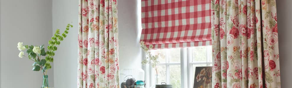 Brown & Beige, Duck Egg  Self Patterned & Damasks  Roman Blinds UK
