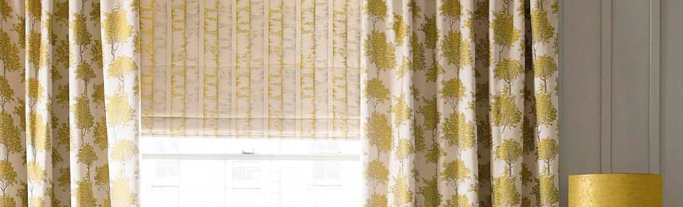 Natural, Cream & White  Checks, Stripes & Circles  Roman Blinds UK